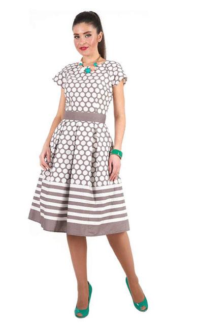 1001 7027 1 1 - Платье средней длины из хлопка 1001-7027-1