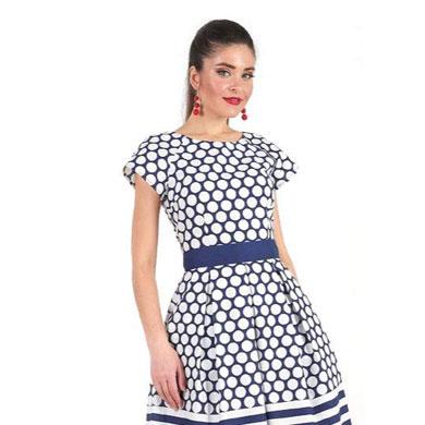 1001 7027 2 - Платье средней длины из хлопка 1001-7027
