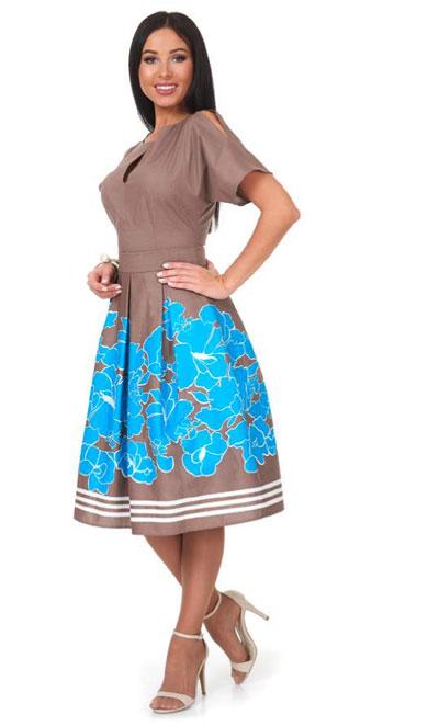 1001 7049 1 - Платье с бантовыми складками 1001-7049