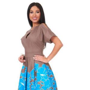 1001 7049 300x300 - Платье с бантовыми складками 1001-7049