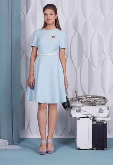 65015 1 - Платье 65015 голубое