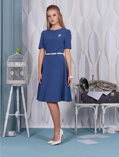 65017 1 - Платье 65017 синее