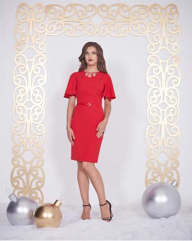 66402 1 - Красное платье 66402
