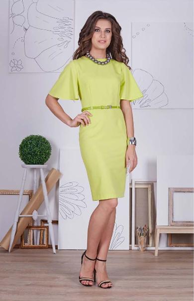 66403 1 - Платье 66403 оливкового цвета