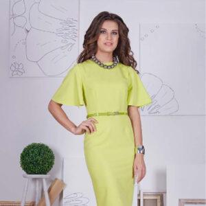 Платье 66403 оливкового цвета