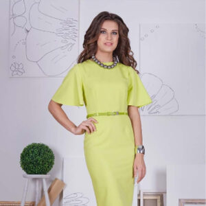 66403 300x300 - Платье 66403 оливкового цвета
