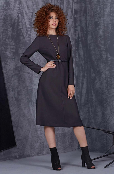 69101 1 - Черное платье 69101