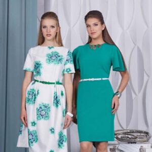 """72807 300x300 - Платье 72807 с принтом """"Зеленый цветок"""""""