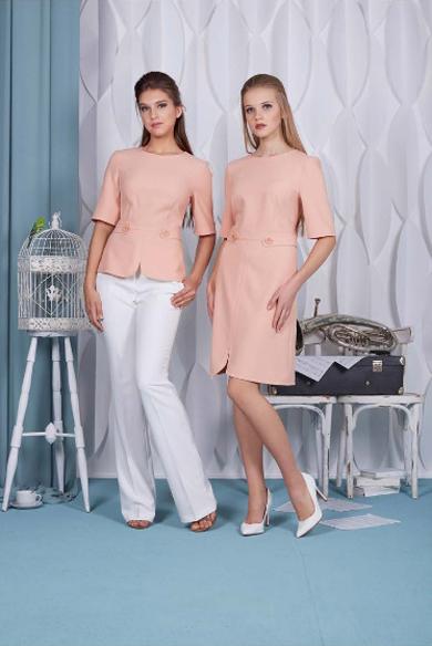 74401 1 - Платье 74401 персикового цвета