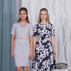 Серое платье 76001