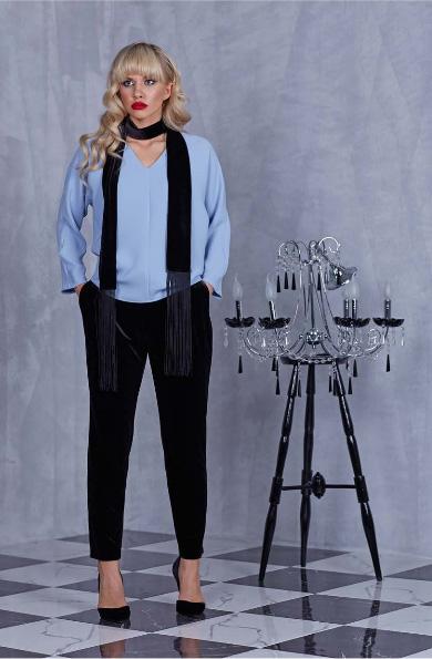 91502 1 - Блуза 91502 голубая