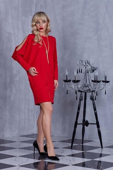 92302 1 - Красное платье 92302