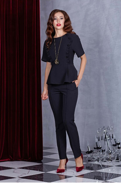 92502 1 - Блуза 92502 черная