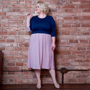 2340 300x300 - Платье Клара сине-розовое