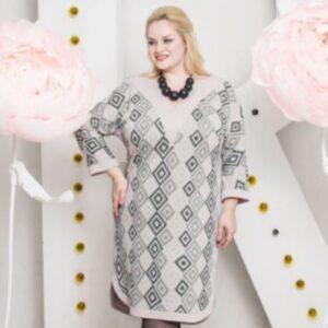"""Аврора 300x300 - Платье """"Аврора"""" серо-розовое"""