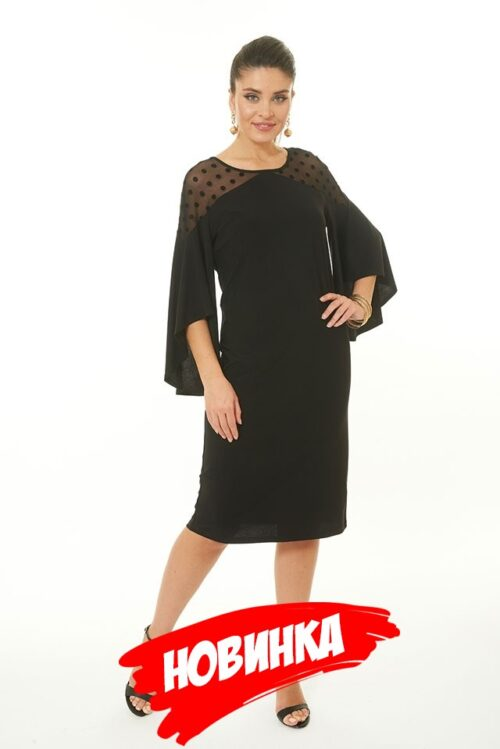 129094020181018090645 500x749 - Платье чёрное LV-LALDT8005