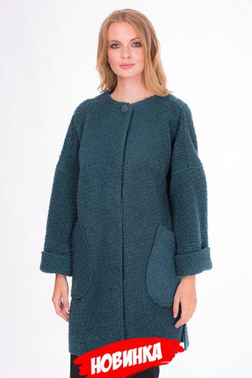 Пальто изумрудное LV-VZU908022