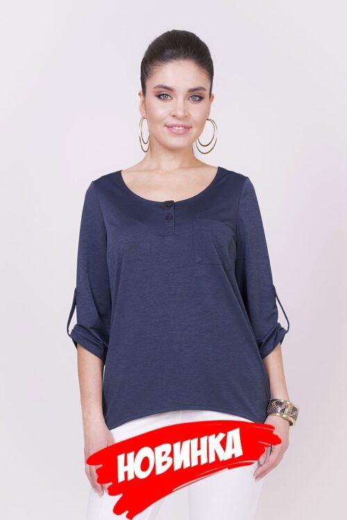 361851320181018092742 1 500x749 - Блуза синяя LV-SS-BT-18000