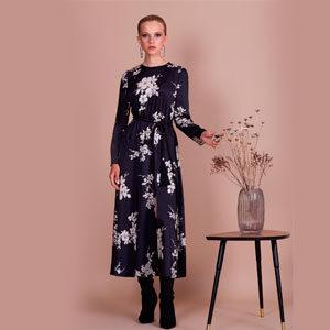 """4683 300x300 - Платье 13901 с принтом """"цветы"""""""
