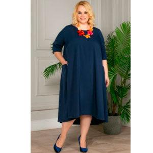 """4852 300x300 - Платье """"Этти"""" синее"""