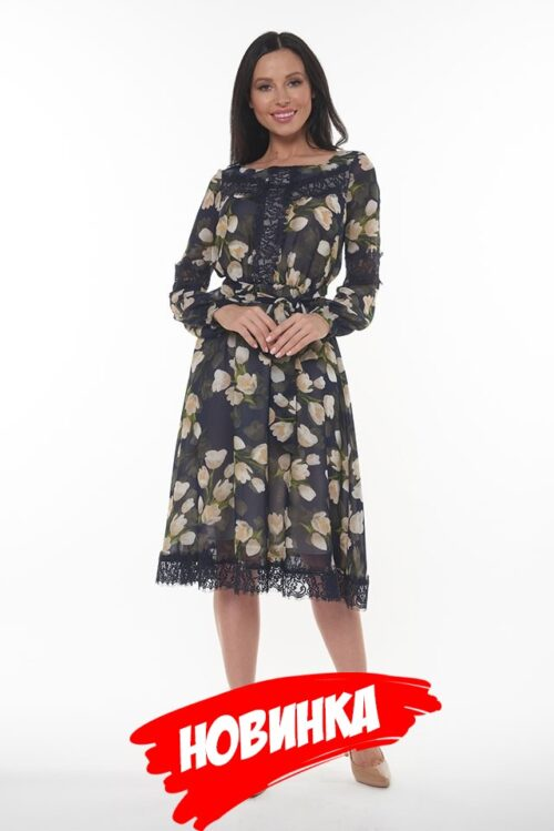 854334820181018175536 500x749 - Платье синее с цветами LV-LAVDS7023