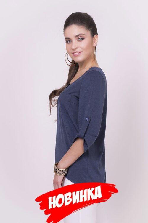 975976120181018092742 500x749 - Блуза синяя LV-SS-BT-18000