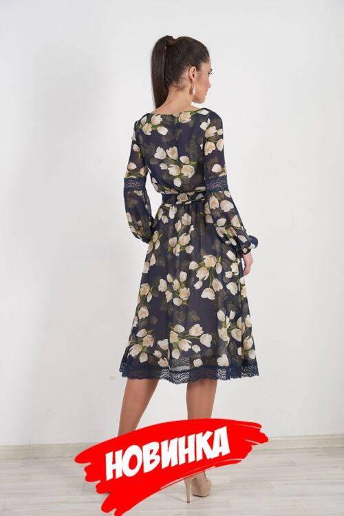 985906520181018175536 500x749 - Платье синее с цветами LV-LAVDS7023
