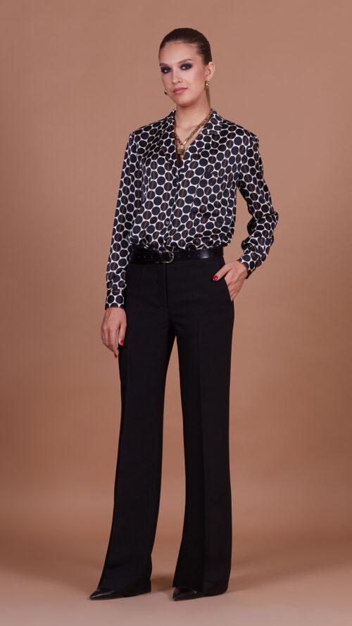 Блуза 31813 принт горох