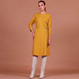 6292 300x300 - Платье горчичное 35103