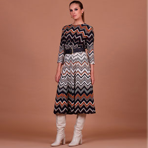 6497 300x300 - Платье 35711 с геометрическим принтом и ремнем