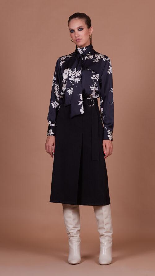 Блуза 35901 цветы