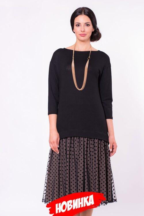 217447720181129202652 500x749 - Платье чёрное в стиле ретро