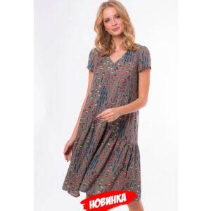 bez imeni19 300x300 - Платье-трапеция в цвете хаки