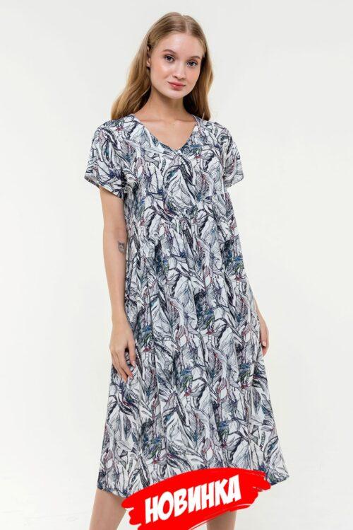 312151720200304221643 500x749 - Платье белое с принтом