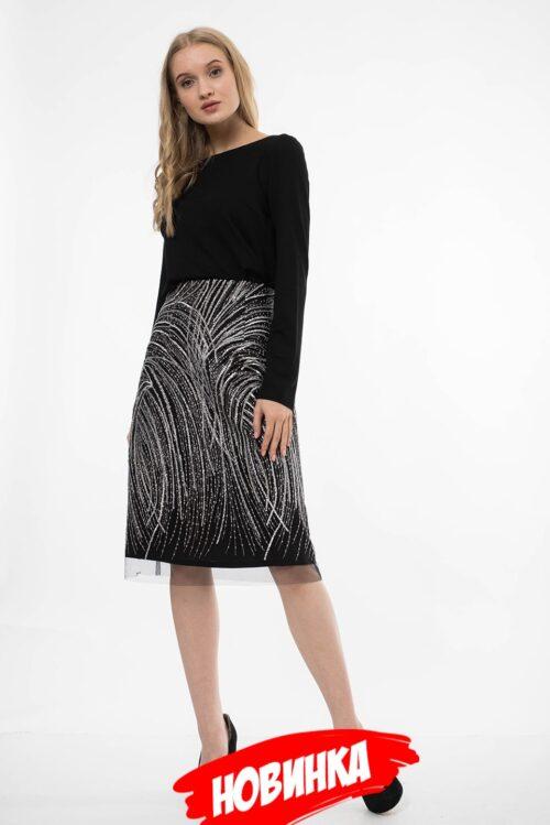 495170520191106215517 500x749 - Черная нарядная юбка